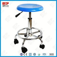 Pretty durable mental height adjustable lab stool