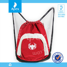High quality sports drawstring backpack bag