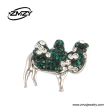 Unique Camel Shaped Snap Button Charms With Crystal Clasps Decorative European Bracelets DIY Jewelry