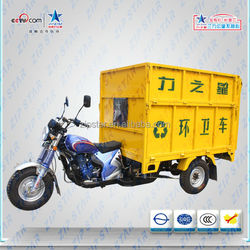 zongshen 200cc Garbage Motor Tricycle for Sanitation Using with Hydraulic Dumper