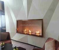remote control indoor used fireplaces ethanol 3 burner, burner fireplace