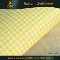 BS-280301 3d high quality tartan design Non-Woven wallpaper