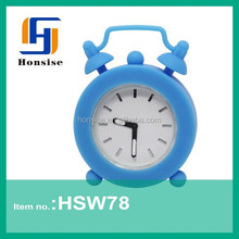 Cheap decoration silicone alarm clocks classic with customized logo available