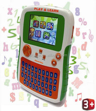 2015 hot handheld battery powered TFT LCD display Full color Kids computer first learning tablet toys