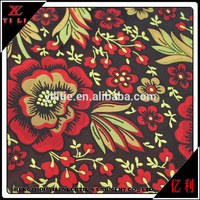 Latest design polyester dress soft floral fabric