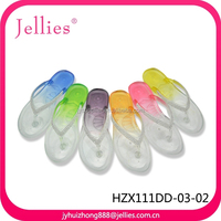 latest ladies flip flop slippers plastic shoes women crystal pvc jelly sandals