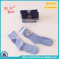 Wholesale 100 percent cotton argyle socks for men socks