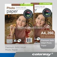 PHW260 260gsm Premium Quality RC Silk Woven Photo Paper A4 A3 4R