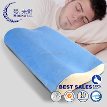B shape luxury soft classic standard comfortable washable memory foam adult pillow size 54*39*12/8cm