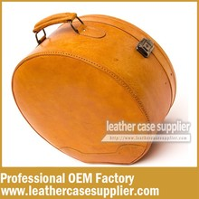 The Luxury Cosmetic Round Leather Train case