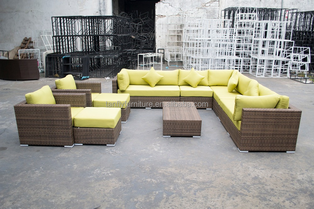 UV resistant poly rattan outdoor/indoor furniture fashionable sofa set