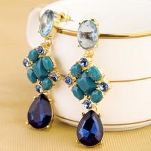 Big Brand New Crystal Teardrop Indian Gold Jhumka Earring