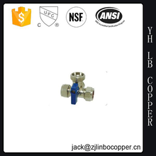 Lead free Brass / CW 617 Brass Three Way Brass ball Valve for America User