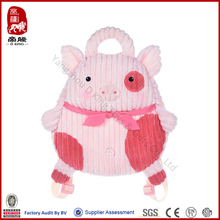 cute pink plush pig backpack manufacture
