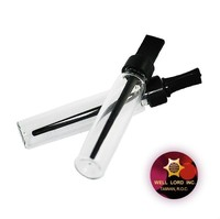Glass clear round perfume test vial