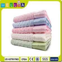 100% polyester minky dot baby blanket for baby