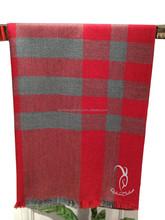 Lattice Pattern Woven Wool Blanket