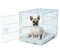 Blue Metal Small Folding Dog Crate Cage