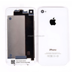 Black Glass Battery Housing Back Cover Repair Kit for iPhone 4/4S