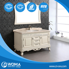 WOMA 3089 China Import and Export Fair hot sale bathroom designs ,oak solid wood bathroom cabinet
