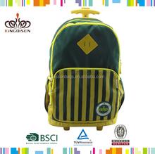 Custom personalized trolley school bag stripe school bag for kids
