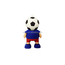 Wholesale Soccer Kid Waterproof Rubber Bulk USB Flash Drives