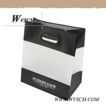 Hot selling promotional punch handle plastic shopping bag with your logo