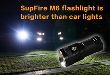 30W 2000lm portable LED flashlight with tripod hole