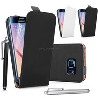 Colorful Real Genuine Flip Leather Case For Samsung Galaxy S6 G9200 with free screen protector and stylus pen