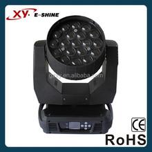 19x12w osram led beam zoom/wash moving head lights