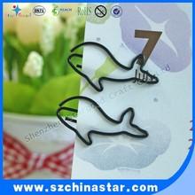Plastic material fish shape paper clip REACH EN71 certificate