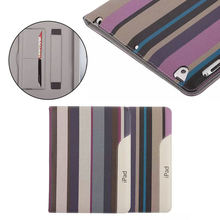 Stripe ultra thin case for ipad 2/3/4, super ultra thin case for ipad 2/3/4