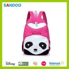 cina prodotto 2015 bella colorate nuovo disegno di tela carino panda zaino per gli adolescenti