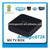 AML8726-MX dual core A9 android 4.2.2 XBMC Wifi DLNA tv box HD18D MX TV BOX smart tv box