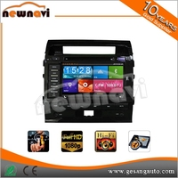 double din 6.2 inch capacitive touch screen car dvd player with gps Bluetooth Radio for land cruiser