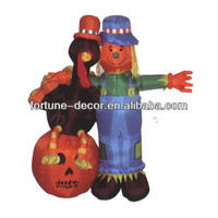 180cmH/6ft inflatable Halloween decoration Scarecrow with Turkey