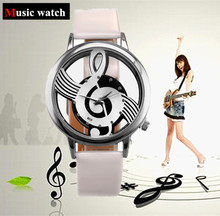 2015 New lady dress Music Symbol quartz Watch women
