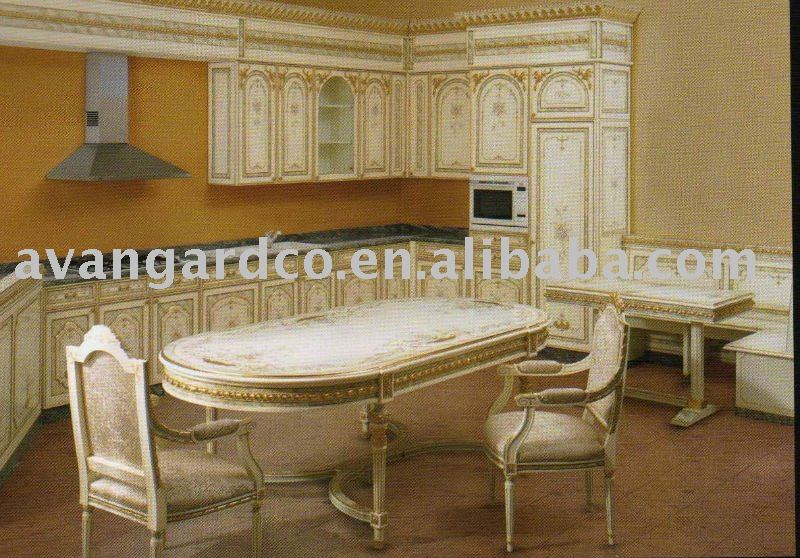 Carved wooden kitchen cabinet white color buy kitchen for Carved kitchen cabinets