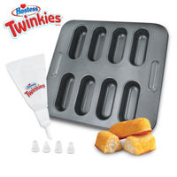 Hostess Twinkies Bake Set Cake Pan Recipe Book Pastry Bag Snack Non-Stick Baking