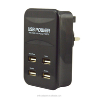 5V 4.5A factory offer all in one 4 ports usb wall charger ,high quality and hot sale !