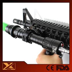 Tactical gun mountable 50mw focusing green laser flashlight