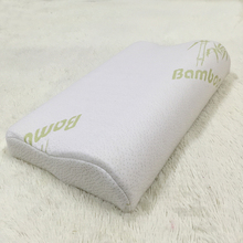 Low price large decorative adult spine care bamboo fiber memory foam pillow