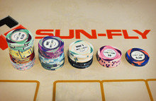 PolyChrom, The Ultimate Cash Game Chips, SunFly ceramic casino poker chips, High quality Ceramic Chip