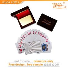 Custom waterproof 100% pvc plastic playing cards poker