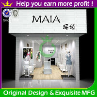 Modern style cheap store design for garments display