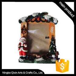Handmade Polyresin Christmas LED Light Picture Frame