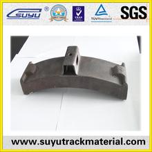 chinese SGS railway brake shoe for fastening