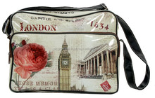 PU leather material womens messenger bag in vintage style
