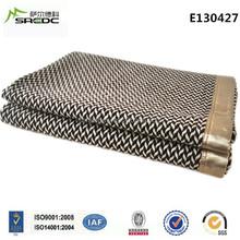 SREDC king size herringbone thick heavy 100% wool blanket for bed