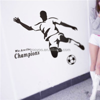 zooyoo8257vinyl Removable football wall sticker man wall decal art design self adhesive paper